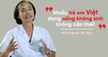 Tiến sĩ Nguyễn Tiến Dũng, nguyên trưởng khoa Nhi, Bệnh viện Bạch Mai, Hà Nội